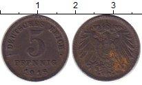 Изображение Монеты Германия 5 пфеннигов 1918 Железо XF- F