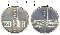 Изображение Монеты Европа Швейцария 20 франков 1992 Серебро Proof-