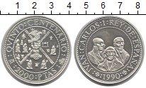 Изображение Монеты Европа Испания 2000 песет 1990 Серебро UNC