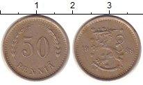 Изображение Монеты Европа Финляндия 50 пенни 1939 Медно-никель VF