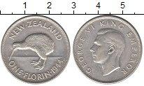 Изображение Монеты Новая Зеландия 1 флорин 1944 Серебро XF