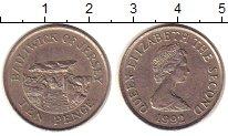 Изображение Монеты Великобритания Остров Джерси 10 пенсов 1992 Медно-никель XF