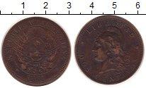 Изображение Монеты Южная Америка Аргентина 2 сентаво 1891 Медь VF