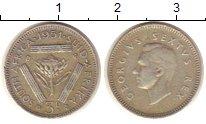Изображение Монеты ЮАР 3 пенса 1951 Серебро XF Георг VI.