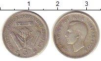 Изображение Монеты Африка ЮАР 3 пенса 1937 Серебро XF