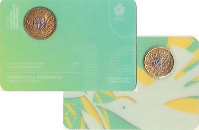 Изображение Подарочные монеты Европа Сан-Марино 5 евро 2016 Биметалл UNC