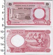 Изображение Банкноты Африка Нигерия 1 фунт 0  UNC