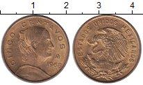Изображение Монеты Мексика 5 сентаво 1968 Медь XF