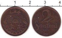 Изображение Монеты Латвия 2 сантима 1926 Бронза VF