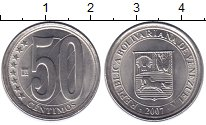 Изображение Монеты Венесуэла 50 сентим 2007 Медно-никель XF