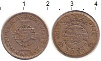 Изображение Монеты Мозамбик 2 1/2 эскудо 1954 Медно-никель XF Протекторат  Португа