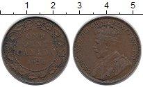 Изображение Монеты Северная Америка Канада 1 цент 1920 Медь VF