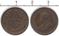 Изображение Монеты Азия Индия 1/12 анны 1936 Медь XF