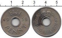 Изображение Монеты Фиджи 1 пенни 1959 Медно-никель XF Елизавета II