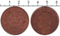 Изображение Монеты Португалия 20 рейс 1883 Медь