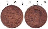 Изображение Монеты Европа Португалия 20 рейс 1883 Медь