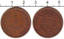 Изображение Монеты Мозамбик 1 эскудо 1968 Медь  Колония Португалии.
