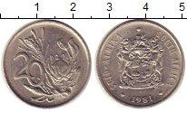 Изображение Монеты Африка ЮАР 20 центов 1981 Медно-никель XF