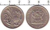 Изображение Монеты Африка ЮАР 20 центов 1981 Медно-никель