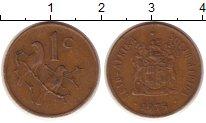 Изображение Монеты Африка ЮАР 1 цент 1975 Медь