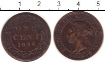Изображение Монеты Северная Америка Канада 1 цент 1896 Бронза XF