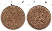 Изображение Монеты Европа Эстония 20 сенти 1935 Медно-никель XF