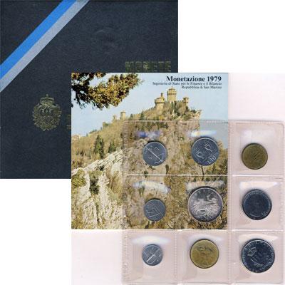 Изображение Подарочные монеты Европа Сан-Марино Годовой набор 1979 года 1979  UNC