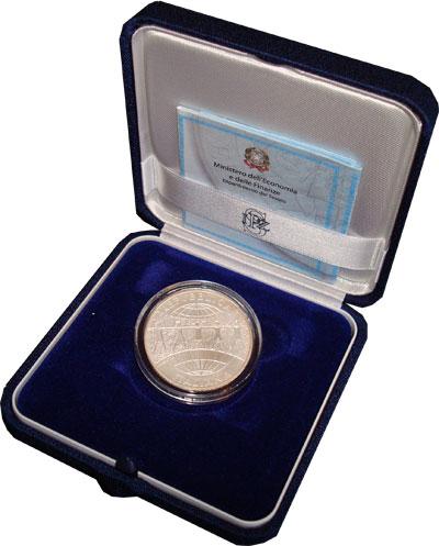 Изображение Подарочные монеты Италия 60-летие организации защиты прав детей 2006 Серебро UNC