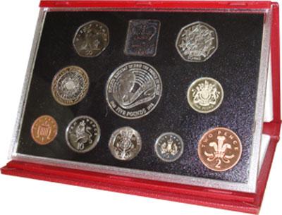 Изображение Подарочные монеты Великобритания 50-летие принца Уэльского 1998  Proof