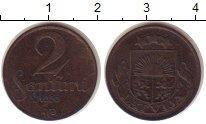 Изображение Монеты Латвия 2 сантима 1926 Бронза XF