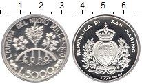 Изображение Монеты Европа Сан-Марино 5000 лир 1998 Серебро Proof-