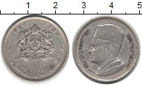 Изображение Монеты Африка Марокко 1 дирхам 1960 Серебро VF