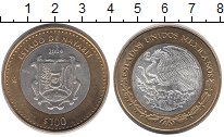Изображение Монеты Северная Америка Мексика 100 песо 2004 Биметалл UNC-