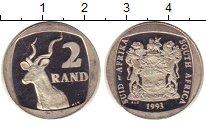Изображение Монеты Африка ЮАР 2 ранда 1993 Медно-никель Proof-