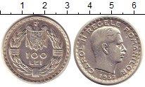Изображение Монеты Румыния 100 лей 1932 Серебро XF