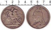 Изображение Монеты Великобритания 1 крона 1892 Серебро XF- Виктория
