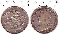 Изображение Монеты Европа Великобритания 1 крона 1897 Серебро XF-