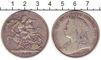 Изображение Монеты Европа Великобритания 1 крона 1895 Серебро XF-