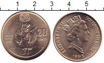 Изображение Монеты Соломоновы острова 20 центов 1995 Медно-никель XF