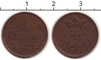 Изображение Монеты Данциг 1 пфенниг 1930 Бронза XF