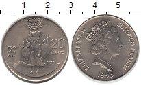 Изображение Монеты Австралия и Океания Соломоновы острова 20 центов 1995 Медно-никель UNC-