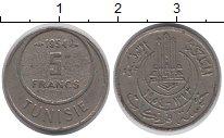 Изображение Монеты Тунис 5 франков 1954 Медно-никель XF-