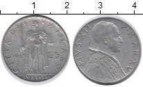 Изображение Монеты Европа Ватикан 5 лир 1953 Алюминий XF