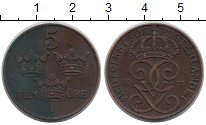 Изображение Монеты Швеция 5 эре 1913 Бронза XF-