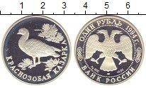 Изображение Монеты Россия 1 рубль 1994 Серебро Proof Краснозобая казарка