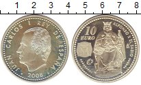 Изображение Монеты Испания 10 евро 2008 Серебро UNC-