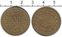 Изображение Монеты Тунис 100 миллим 1983 Латунь VF