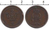 Изображение Монеты Европа Швеция 2 эре 1882 Медь VF