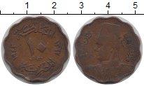 Изображение Монеты Африка Египет 10 миллим 1943 Медь XF