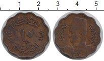 Изображение Монеты Египет 10 миллим 1943 Медь VF